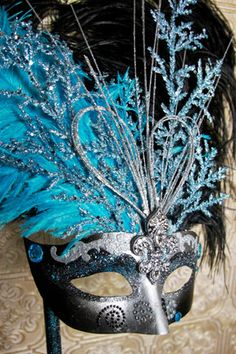 Hand made Mardi Gras mask by KRea11 on Etsy, $89.95