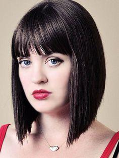 Medium Length Bob Hairstyles with Bangs | Medium Hairstyles 2014 ...