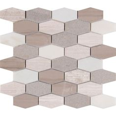 MS International Bellagio Blend Elongated Hexagon 12 in. x 12 in. x 10 mm Honed Marble Mesh-Mounted Mosaic Tile