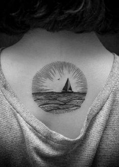 #Boat #Tattoo: If you love to travel different places and explore different countries then a boat tattoo can be a good option for you. As a boat fights different waves and storms and sails over the sea, it defines stiffness and courage also