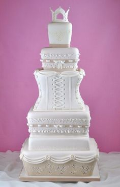 Wedding Corset Cake by Sandra Monger Wedding & Celebration Cakes . Beautiful Wedding Cakes, Gorgeous Cakes, Pretty Cakes, Amazing Cakes, Dream Wedding, Girly Cakes, Fancy Cakes, Cupcakes, Cupcake Cakes