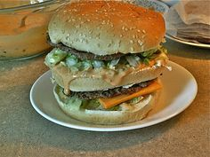 homemade big mac with special sauce