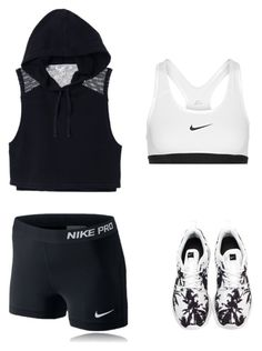 """""""Untitled #258"""" by icanbyourjuliet ❤ liked on Polyvore featuring NIKE and Victoria's Secret"""