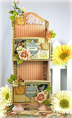 Altered Mail Caddy made by Robin Shakoor from scrapbook.com