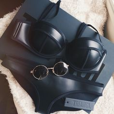 triangl swimwear + round sunnies