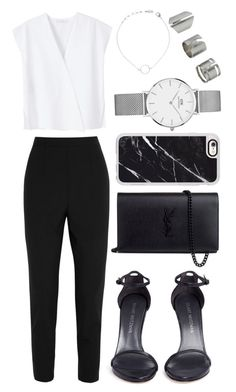 """""""• 31"""" by dianasf ❤ liked on Polyvore featuring MANGO, Stuart Weitzman, Dolce&Gabbana, Yves Saint Laurent, Casetify, Daniel Wellington and Topshop"""