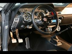 """Interior of a shelby elanor mustang """"beast"""" Shelby Gt 500, Shelby Car, Ford Mustang Shelby Gt500, Ford Mustang Gt, Mustang Interior, Aircraft Interiors, Ford Classic Cars, Classic Mustang, Pony Car"""
