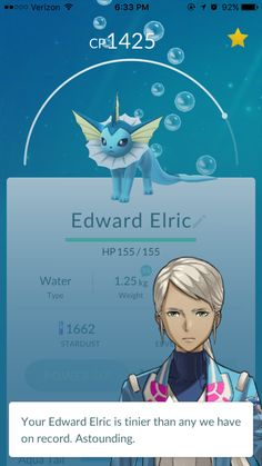 """Got this idea from someone who named their Pokemon """"alchemist"""". Thank you person for this idea, it made me laugh XD"""