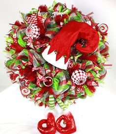 Hey, I found this really awesome Etsy listing at https://www.etsy.com/listing/252081767/merry-christmas-deco-mesh-door-wreath