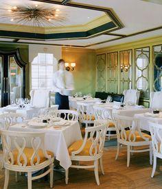 Kelly Wearstler designed restaurant on the seventh-floor restaurant at Bergdorf Goodman NYC
