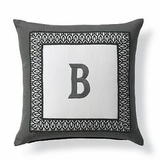 17x17  Tortola Monogram Outdoor Pillow