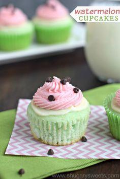 Recipe; Watermelon Cupcakes