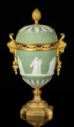 19th C. English Wedgwood Covered Urn