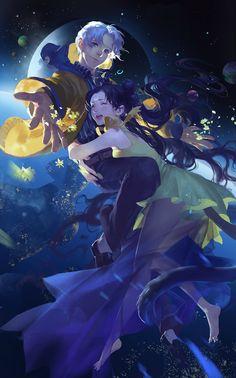 Sailor Moon S movie Human Luna (moon goddess) and Kakeru Ohzora Fanart by 冬眠北. Arte Sailor Moon, Sailor Moon Fan Art, Sailor Moon Usagi, Sailor Jupiter, Sailor Moon Crystal, Luna Et Artemis, Manga Art, Anime Art, Sailor Saturno