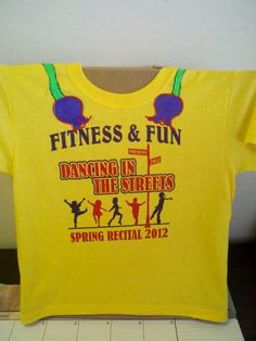 Virginia's Dance recital shirt front