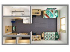 hostel floor 3d plans - Αναζήτηση Google