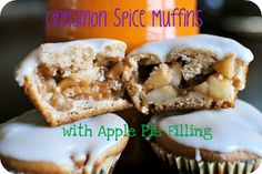 Still Waters: Cinnamon Spice Muffins with Apple Pie Filling