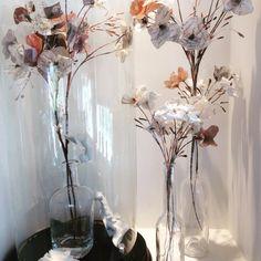 Porcelain , printed tissue paper , silver ! Lace cap hydrangeas - Caroline Lingwood