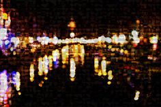 Metallic Photography Mosaic Amsterdam Night Canals by theartlyons, $125.00