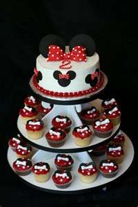 minnie party cake cupcakes