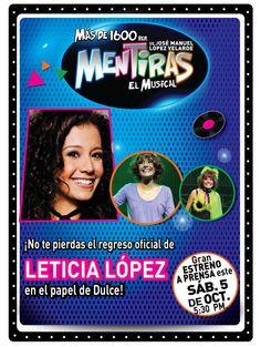Ven a darle la bienvenida como se merece a Lety López a Mentiras. Te esperamos este sábado a las 17:30 hrs. Compra tus boletos en @Ticketmaster México