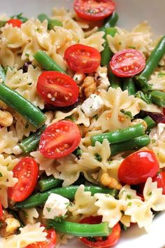 Pasta with Green Beans and Cherry Tomatoes   Green Valley Kitchen