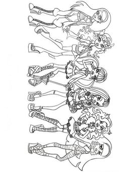 girls monster high coloring page - Monster High Chibi Coloring Pages