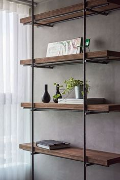 9 Amazing and Unique Tricks Can Change Your Life: Industrial Shelving Toilets industrial style white.Industrial Shelving Restaurant industrial wood how to build.Industrial Living Room With Tv. Vintage Industrial Furniture, Industrial Bedroom, Industrial Living, Industrial Shelving, Industrial Interiors, Metal Furniture, Home Furniture, Furniture Design, Shelving Brackets