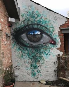 Eyes that reflect the world in the My Dog street art Sig … – Graffiti World 3d Street Art, Murals Street Art, Urban Street Art, Amazing Street Art, Street Art Graffiti, Street Artists, Urban Art, Graffiti Artwork, Graffiti Room