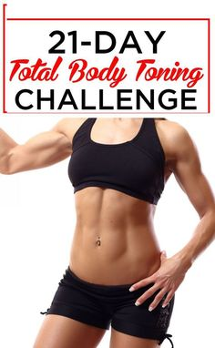21-Day Total Body Toning Challenge - Skinnyan