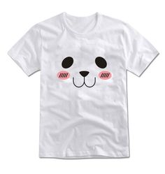 Mirine Unisex Shy Face Expression Printing Graphic Cotton T Shirt White Gray | eBay