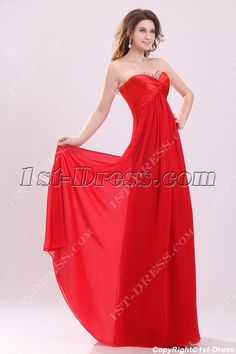 c1332be03b Charming Red Strapless Empire Plus Size Prom Dress