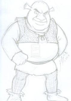 Shrek sketch by TheALVINtaker.deviantart.com on @deviantART