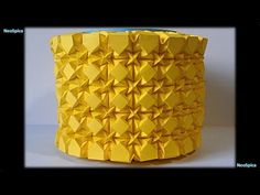Square Rhombus and Waterbomb Tessellations Cylinder - YouTube
