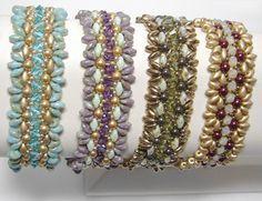 Ruffle Bracelet Bead Pattern by Deborah Roberti at Sova-Enterprises.com