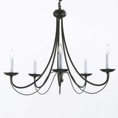 Black iron chandelier