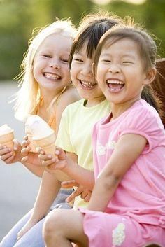 helados y los niños