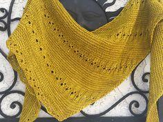 Knitshades (deadly ?) boomerang by Susan Ashcroft, knitted by knitgrl | malabrigo Rios in Frank Ochre