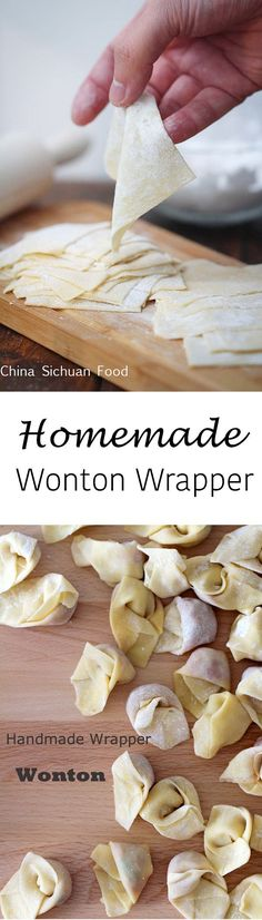 Homemade wonton wrappers skip egg and make this vegan Plat Vegan, Vegan Egg, Wonton Recipes, Wanton Wrapper Recipes, Wonton Wrappers, Dumpling Wrappers, Asian Cooking, Diy Food, Asian Recipes