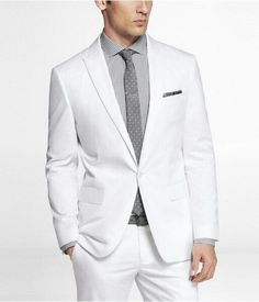 White cotton sateen photographer suit