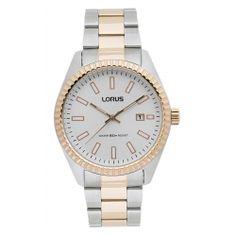 Reloj Lorus Acero plata y rosa Fechador Modelo RH992DX9