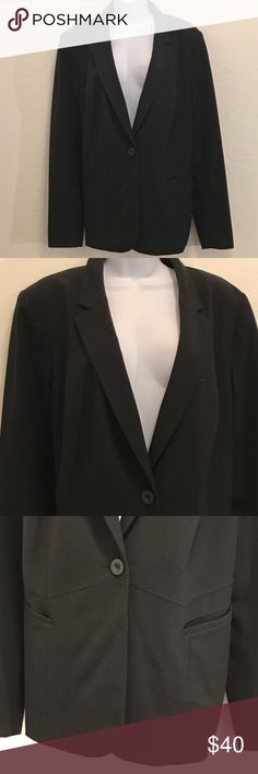 Lane Bryant Black Career Blazer Excellent Condition, 2 Front Pockets, Back Slit, Single Breast, Button Down Front, Shoulder Pads, Striped Lined, a little Stretch, 3 Buttons on Long Sleeve. Nice. Jackets & Coats Blazers