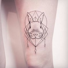 Geometric Rabbit Tattoo Design