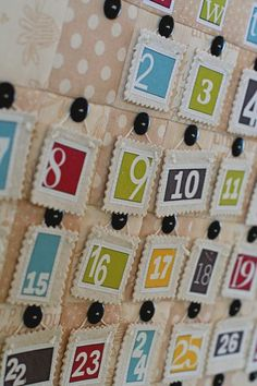 cute countdown calendar - could be used for anything, not only christmas Countdown Calendar, Advent Calendars, Indoor Christmas Decorations, Christmas Holidays, Calendar Board, Crafty Fox, Holiday Ideas, Holiday Decor, Note Holders