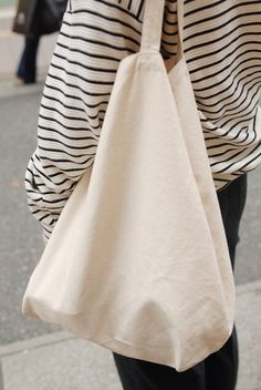 Stripes on the street. | via la marinière