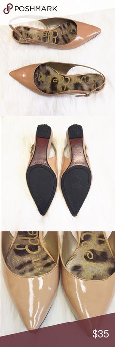 Same Edelman patent nude pointy flats Only worn ONCE! Patent nude pointy flats! No marks or scuffs. In excellent condition!!! Sam Edelman Shoes Flats & Loafers