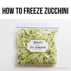 How to freeze zucchini + tips!