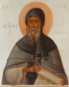 St Anthony the Great icon. Religious Images, Religious Icons, Religious Art, Byzantine Icons, Byzantine Art, Catholic Art, Catholic Saints, St Tomas, Anthony The Great