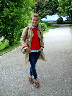 Seeperlen: Outfit: Timberlands und Trenchcoat
