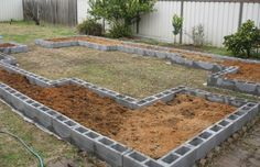 Cinder Blocks - so easy I could do this!